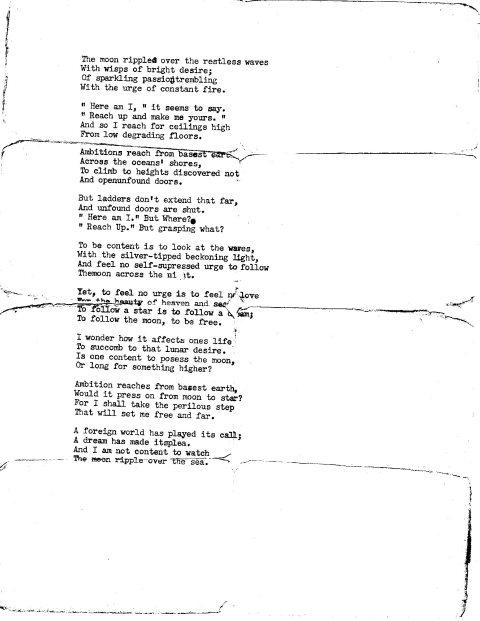 Poem to Sherrow