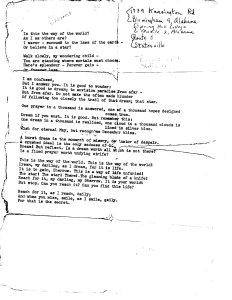 Sherrow's Poem typed