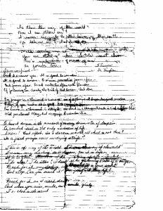 Sherrow's Poem